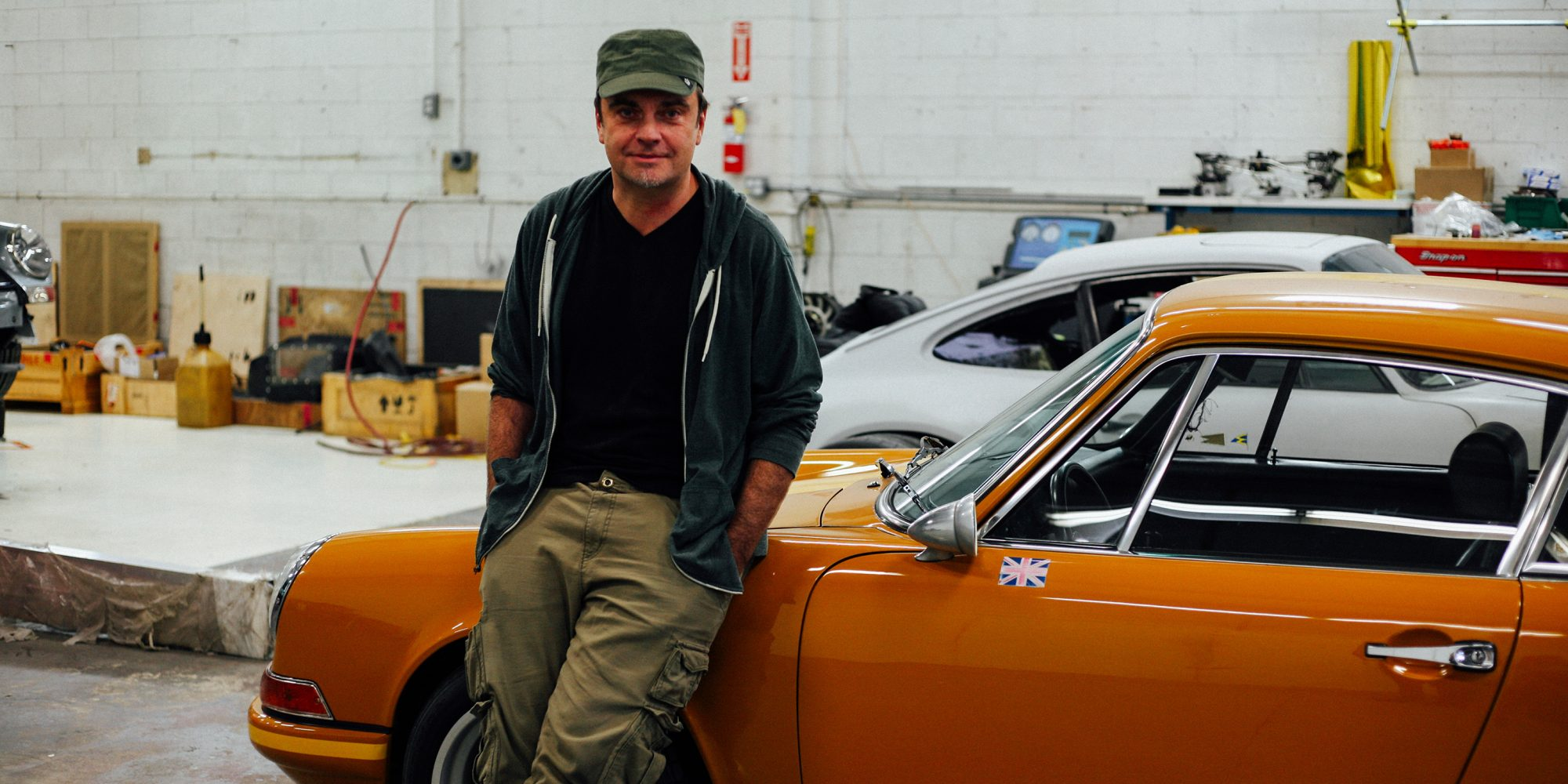 rob Dickinson on his first singer car