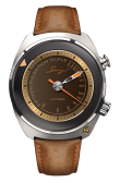 flytrack pulsometer with brown strap